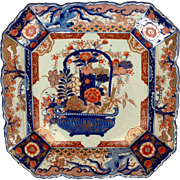Large Imari Square Charger 19th c.