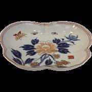 Imari Butterfly Dish 19th c