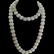 Celadon Jade Bead Necklace