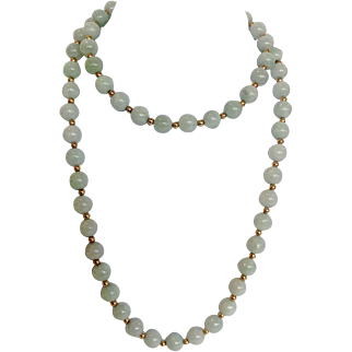 Celadon Jade Bead Necklace