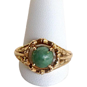 Jade Ring 14k Size 8.25