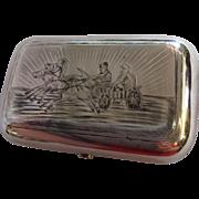 Russian Niello Silver Cigarette Case c. 1880