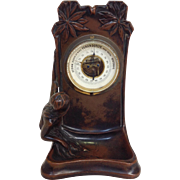Art Nouveau Mermaid Bronze Barometer