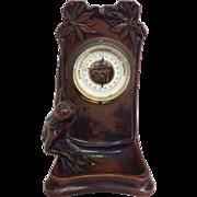 Art Nouveau Mermaid Bronze Barometer