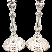 Pair Of Wilhelm Binder Sterling Candlesticks c.1890's