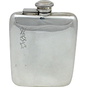 English Sterling Flask