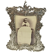 "Ornate Gorham Sterling Frame 4x5.5"""