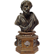 Early Figural Reliquary Saint 17-18th C.