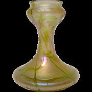 """Loetz Green Art Glass Vase 5.5"""""""