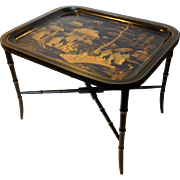 Oriental Painted Tray Table