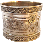 Wood And Hughes Coin Silver Napkin Ring 'Dianne'