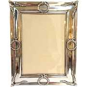 """Gorham Classical Wreaths Picture Frame Sterling 4x6"""" Photo"""