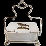 Victorian Silver Figural Sardine Box