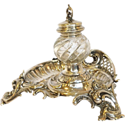 Continental 800 Silver Inkwell C.1870