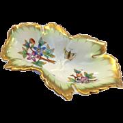 Herend Leaf Dish Queen Victoria