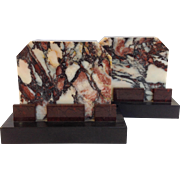 Multicolored Marble Bookends