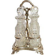 Four Bottle Cruet Set English Sterling Barnard London Circa 1841