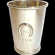 Kentucky Derby Mint Julep Cup Sterling 1954 Determine!