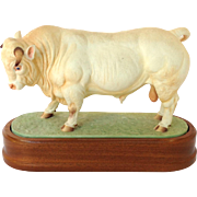 Royal Worcester Charolais Bull Figure Limited Edition  334/500