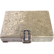 Sterling Engaved Purse Compact And Cigarette Case 800 Silver