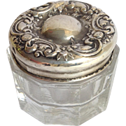 Dresser Jar Small Rouge Pot Sterling Lid
