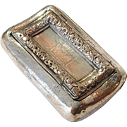 Joseph Willmore Sterling Snuff Box Mono RWC