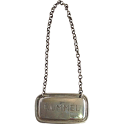 'Kummel' Decanter Label Sterling