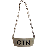 Gin Decanter Label Sterling