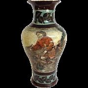 "Large Porclain Hunting Scene Vase European 15"""