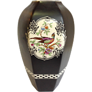 Crown Ducal English Art Deco Birds Vase