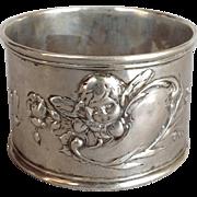 Cherub Napkin Ring 800 Silver