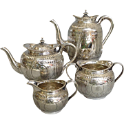 Elkington Four Piece Silverplate Coffee And Tea Set