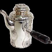 Danish Roses Coffee Pot by Hermann 800 Silver Circa 1924