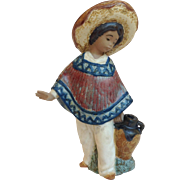 Lladro Pedro With Jug Figurine Circa 1984