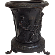 Bronze Classical Figures Jardiniere Antique