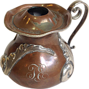 Mixed Metals Small Copper Lamp