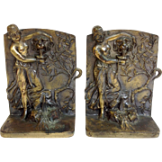 Nude Dancer Figure Bookends