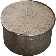 Tiffany Floral Engraved Sterling Box