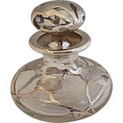 Sterling Overlay Iris Perfume Bottle
