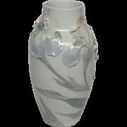 "Rorstrand Floral Porcelain 10"" Vase"