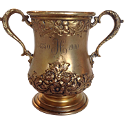 50th Anniversary Cup Floral Sterling Gilt Wash