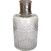 Puiforcat French Cologne Cut Glass and 950 Silver