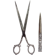 """Gorham Sterling Scissors with Cover 10¼"""""""