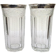 Heisey Silver Overlay Glasses 5 7/8""