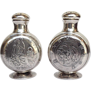 Shreve Salt and Pepper World Coins Sterling 1880's