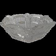 American Brilliant Period Cut Glass Bowl 19th c