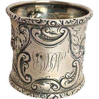 Napkin Ring Sterling William Wise & Son