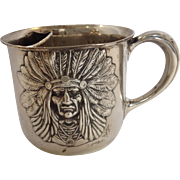 Unger Brothers Indian Chief Shaving Mug Sterling