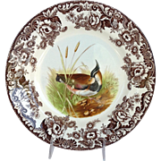 """Spode Lapwing Woodland Dinner Plate 10 1/2"""""""