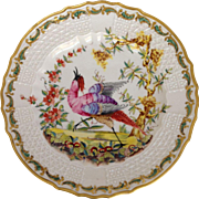 Bird Plate French Gilt 9.5""